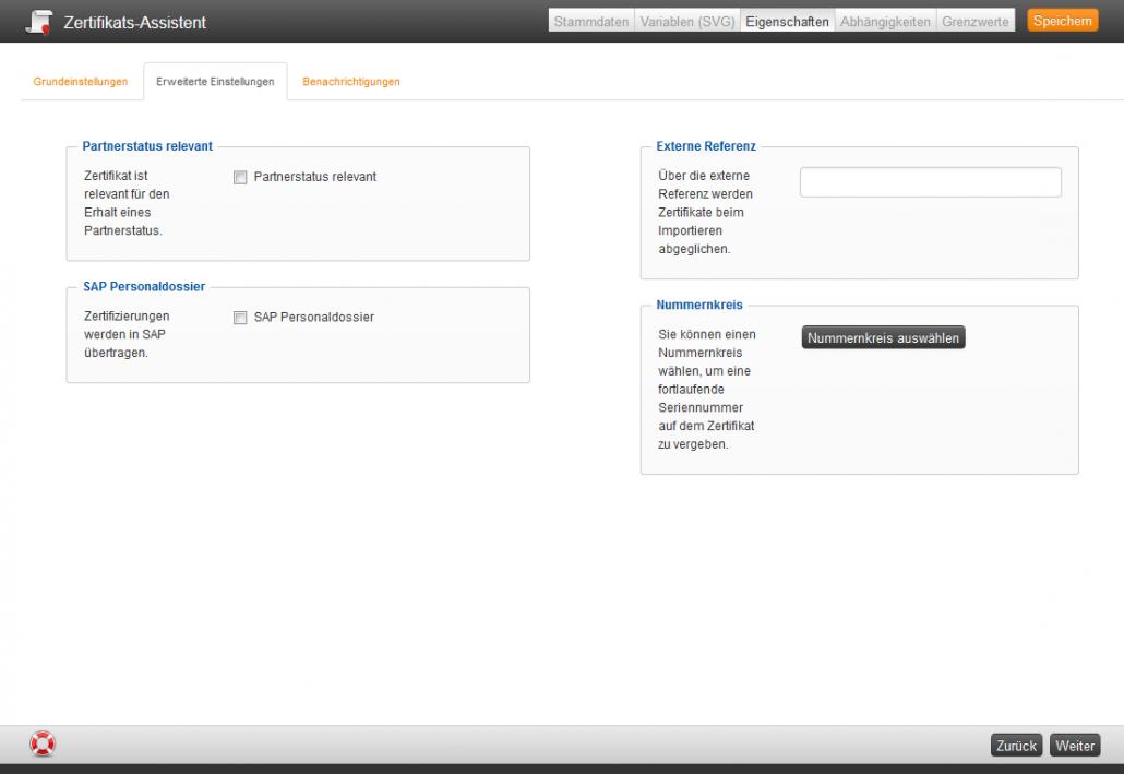 Zertifikate - Avendoo® Online Hilfe